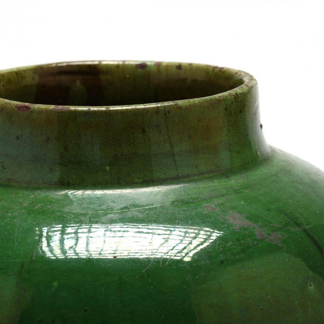 Elegant Green Pottery Vase - 2