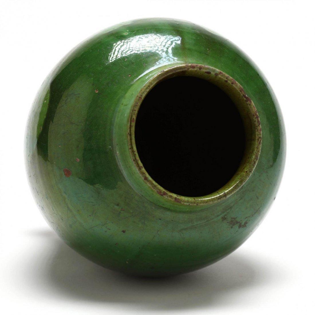Elegant Green Pottery Vase - 3