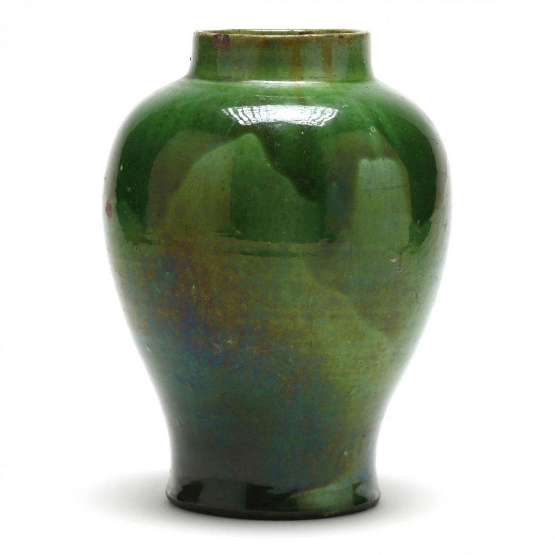 Elegant Green Pottery Vase - 4