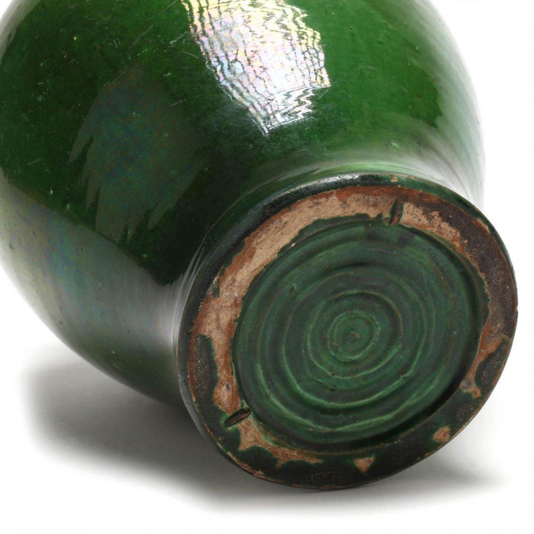 Elegant Green Pottery Vase - 5