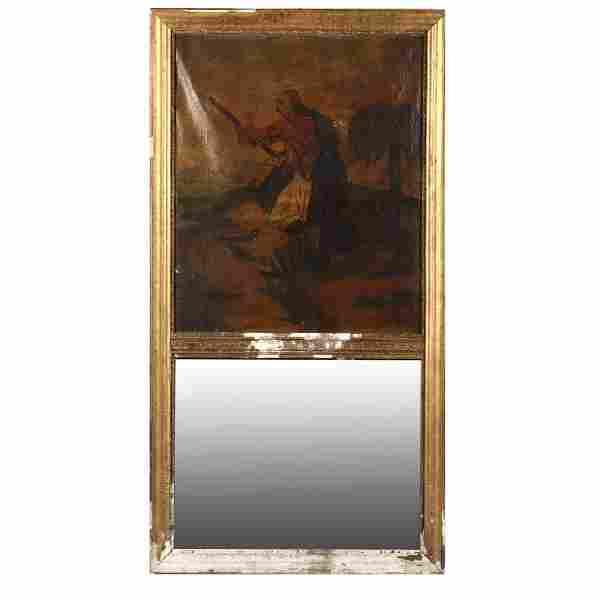Antique Orientalist Trumeau Mirror