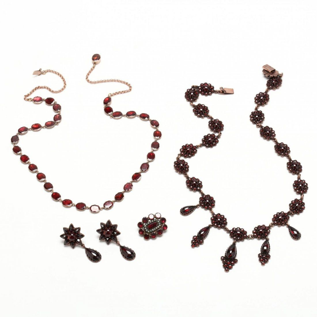 Victorian Gold Filled Bohemian Garnet Collection
