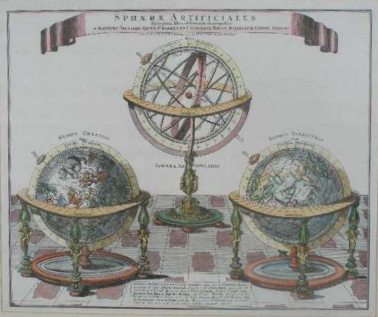 "1: German Engraving, ""Sphaerae Artificiales Synoptica I"