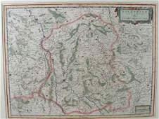 4 Willem and Joan Blaeu Map Nivernium Dulatus Gallic