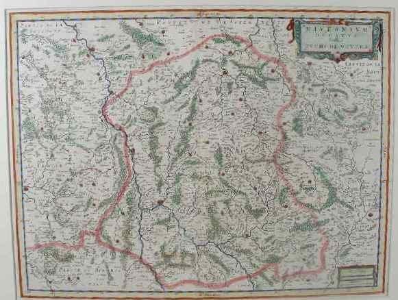 """4: Willem and Joan Blaeu Map, """"Nivernium Dulatus Gallic"""