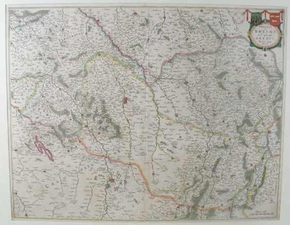 """5: Willem and Joan Blaeu Map, """"Diocese De Rheims, Et Le"""