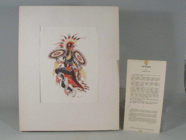 "7: Woody Crumbo, American, 1912-1989, ""The Tall Dance"","