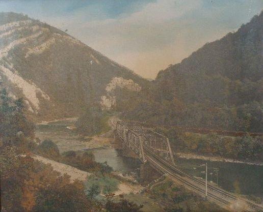 9: Color Photograph att. to William Henry Jackson, Rail