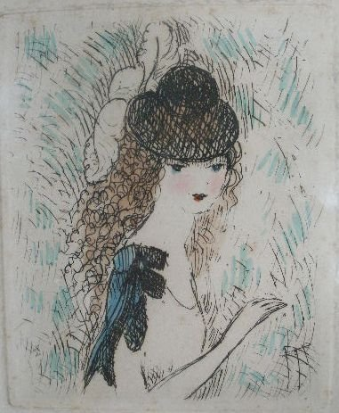 """12: Marie Laurencin (French, 1885-1956), """"Portrait of a"""