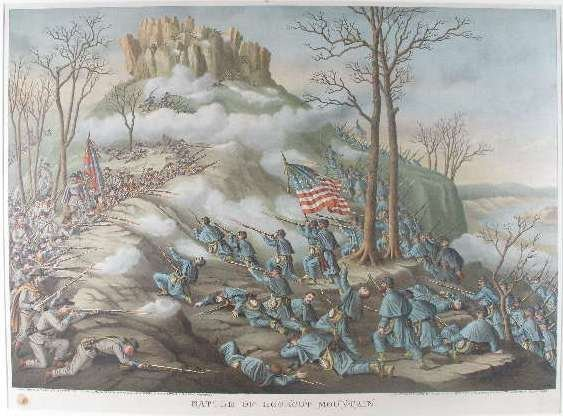 "18: Civil War Lithograph, ""Battle of Lookout Mountain"","