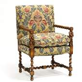 William and Mary Style Arm Chair
