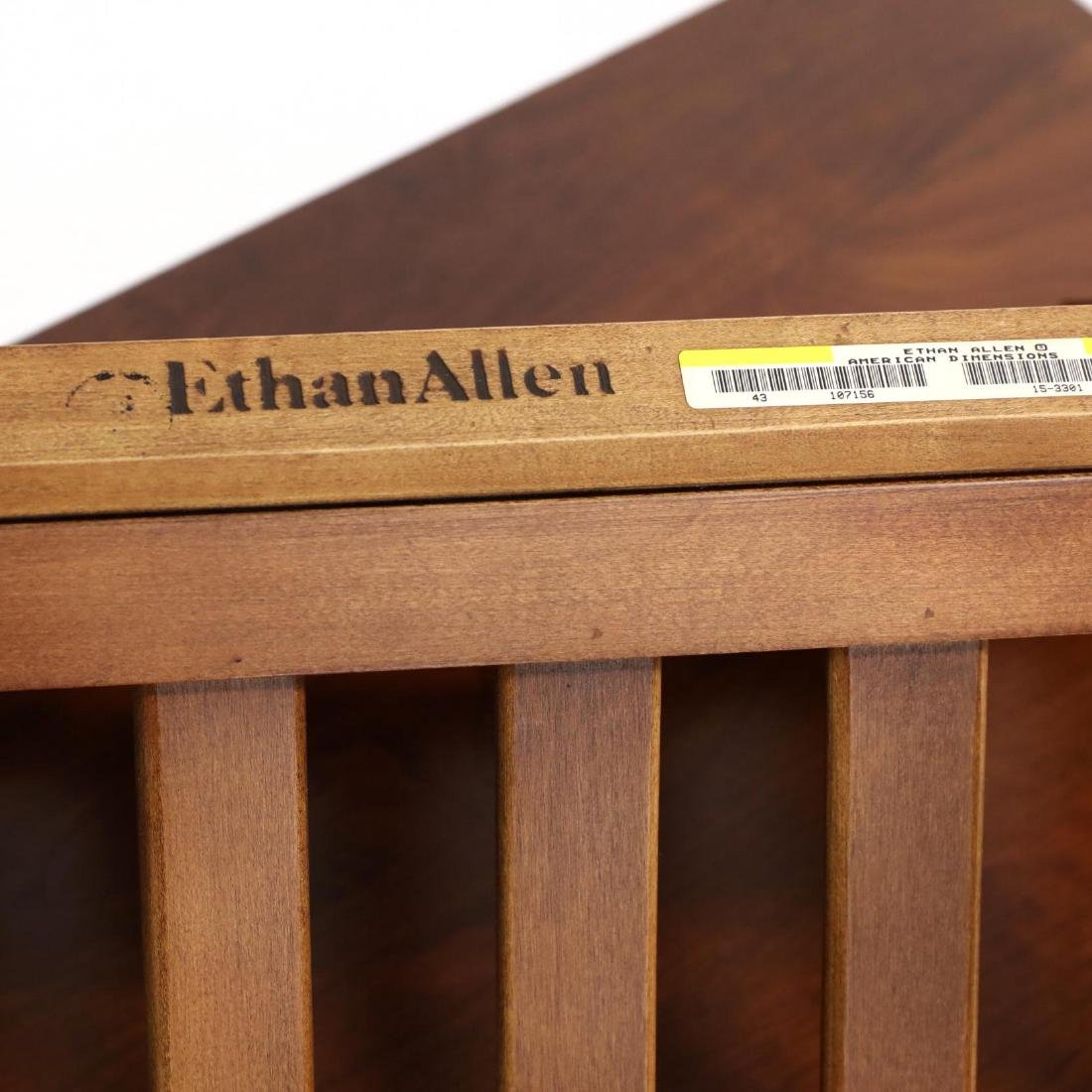 Ethan Allen Mission Style Side Table and Magazine Rack - 3