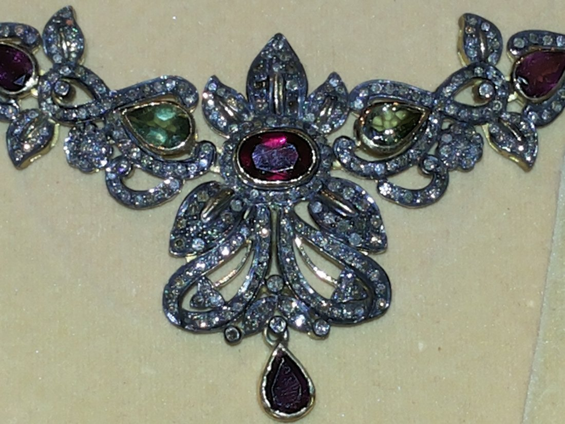 DIAMOND TOURMALINE NECKLACE