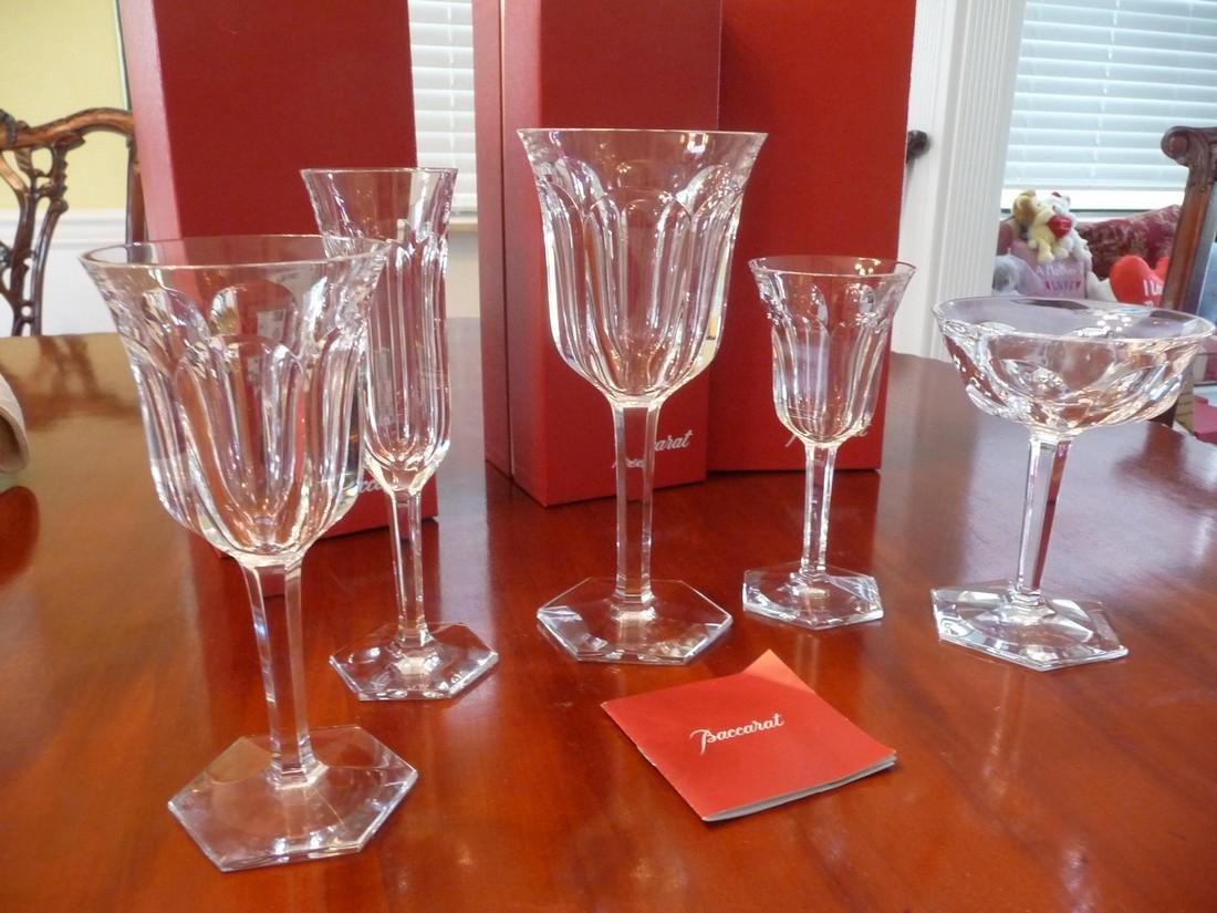 BACCARAT CRYSTAL MALMAISON COMPLETE SET OF 60 GLASSES
