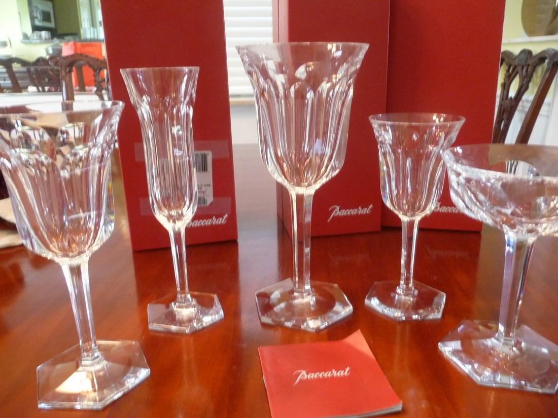 BACCARAT CRYSTAL MALMAISON COMPLETE SET OF 60 GLASSES - 2