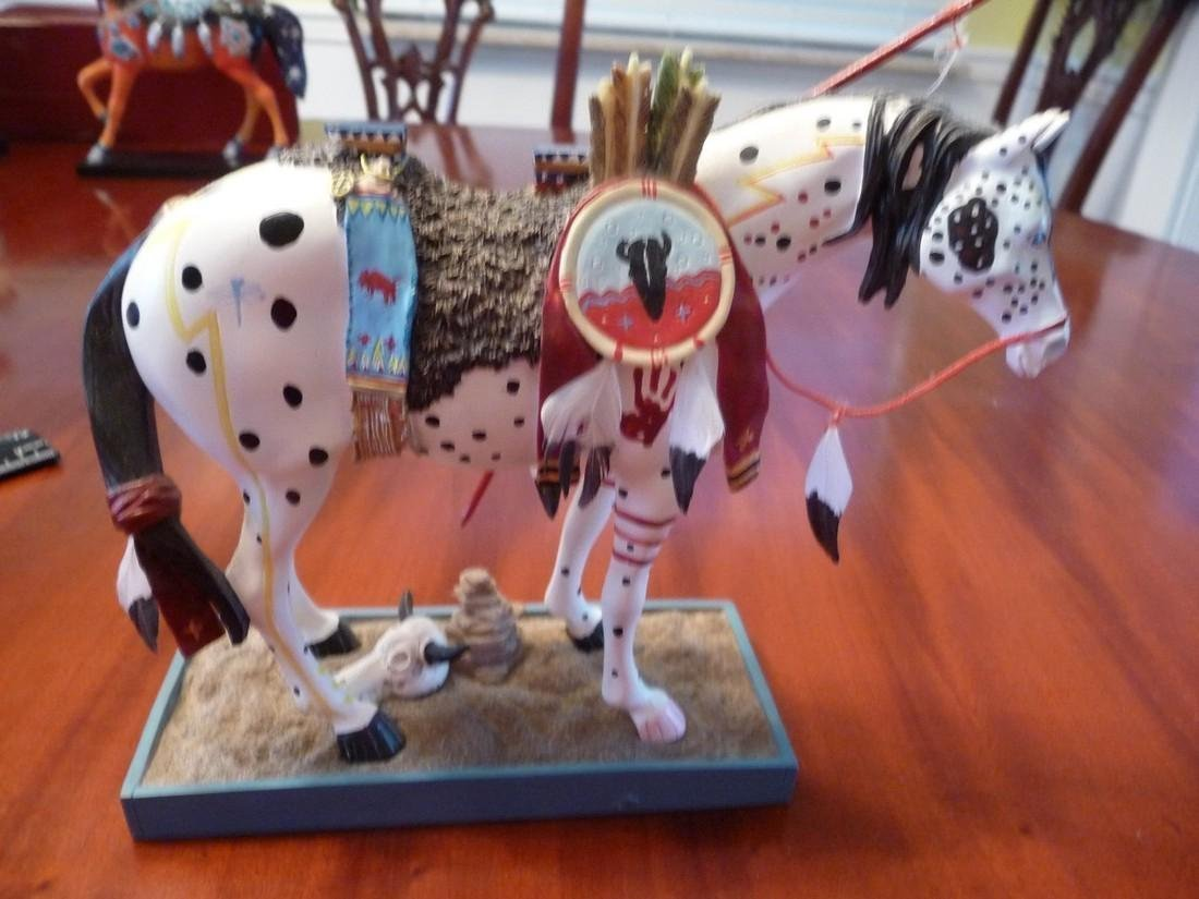 """LIMITED EDITION PAINTED INDIAN HORSE """"WAR PONY"""" FIGURIN"""