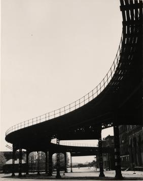 "FAMED SAM MAHL PHOTO"" ELEVATED TRAIN"" CIRCA 1950'S"