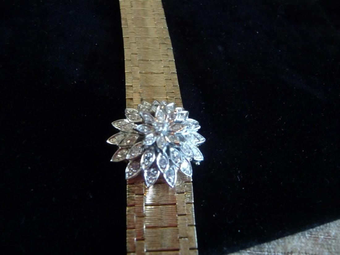 HAMILTON DIAMOND 14K BRACELET WATCH FLIP TOP WATCH