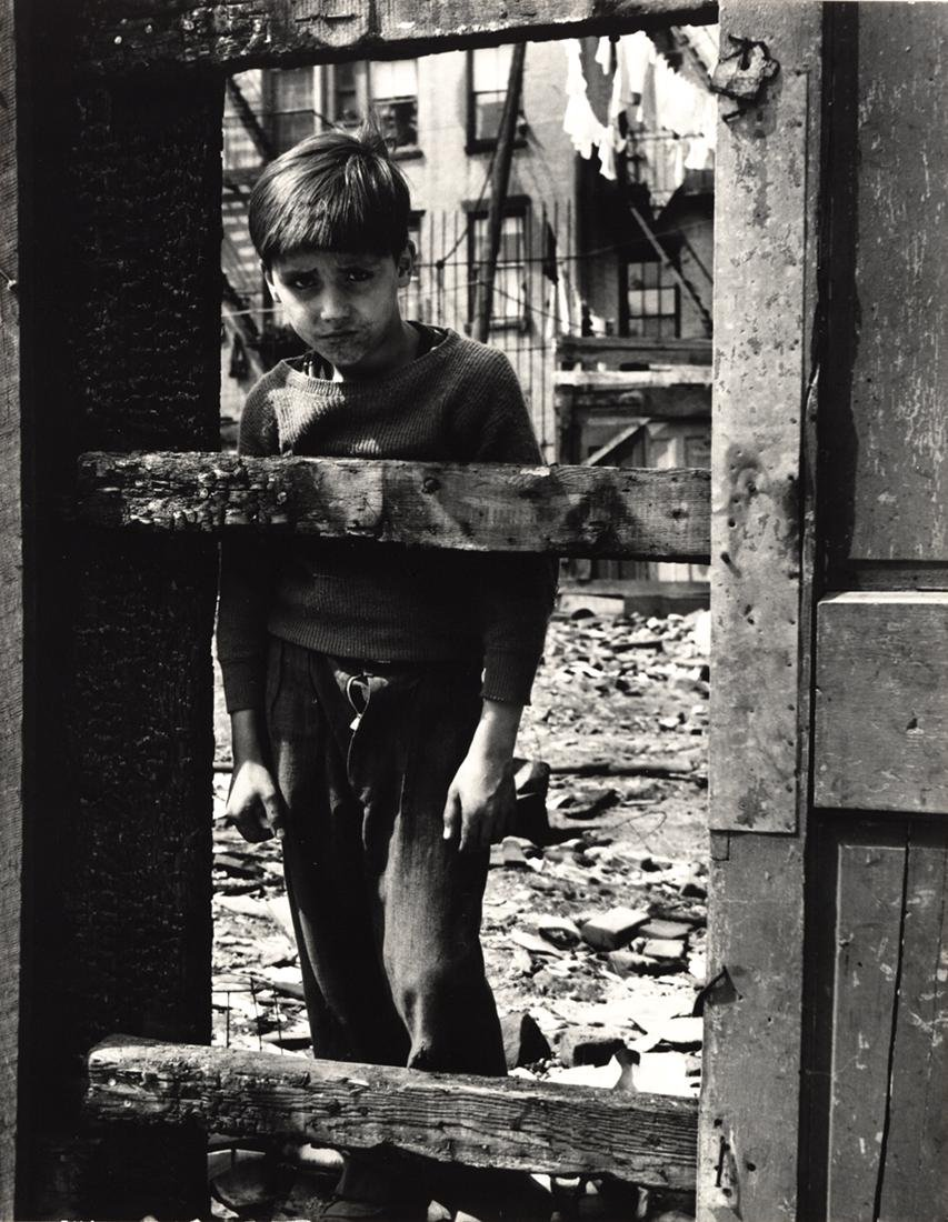 "FAMED SAM MAHL PHOTO \"" LOOKING THROUGH WOODEN SLATS"" - 2"