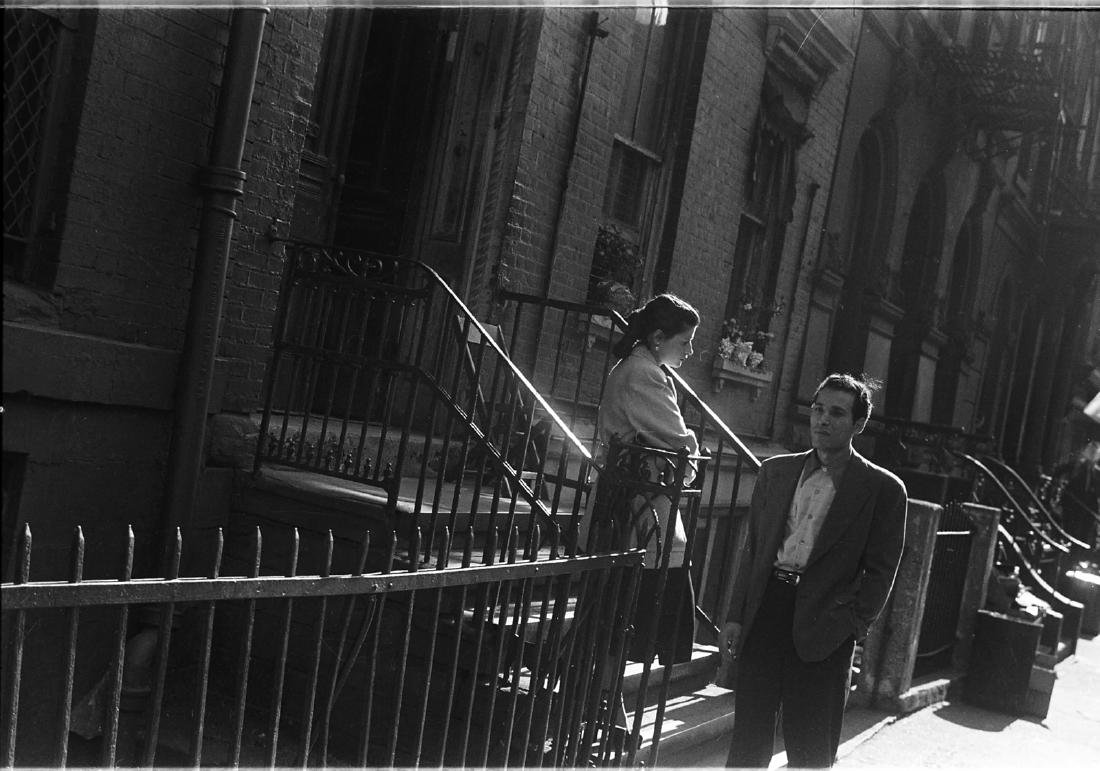 "FAMED SAM MAHL PHOTO ""COUPLE IN CONVERSATION "" C 1952"