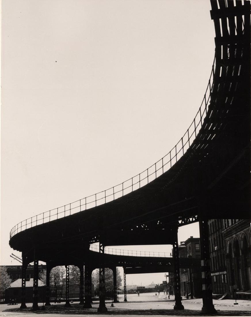 "FAMED SAM MAHL PHOTO"" ELEVATED TRAIN"" CIRCA 1950'S"