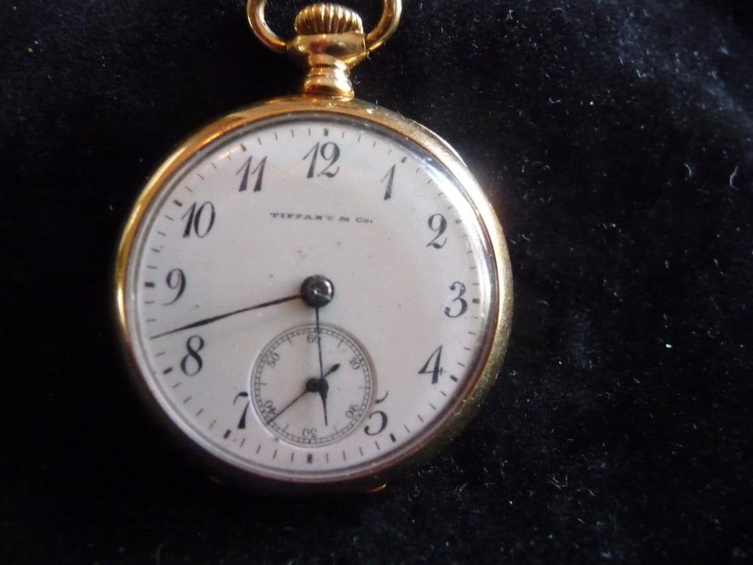 TIFFANY & CO SOLID 18K OPEN FACE ANTIQUE POCKET WATCH