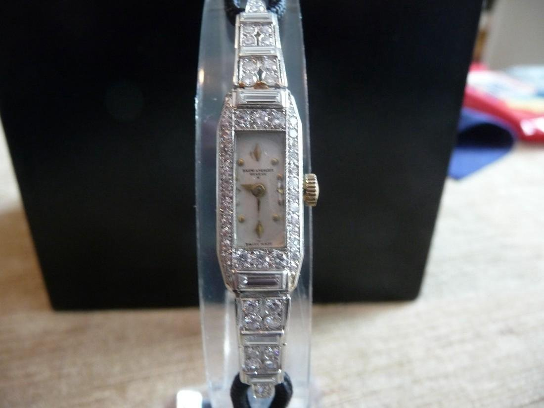 BAUME & MERCIER 1.60 CARATS DIAMOND  PLATINUM WATCH