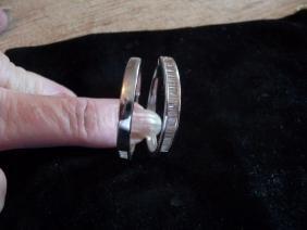 2.25 CARAT DIAMOND 14K HOOP EARRING