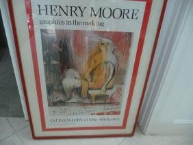 "HENRY MOORE ""GRAPHICS IN THE MAKING""POSTER"