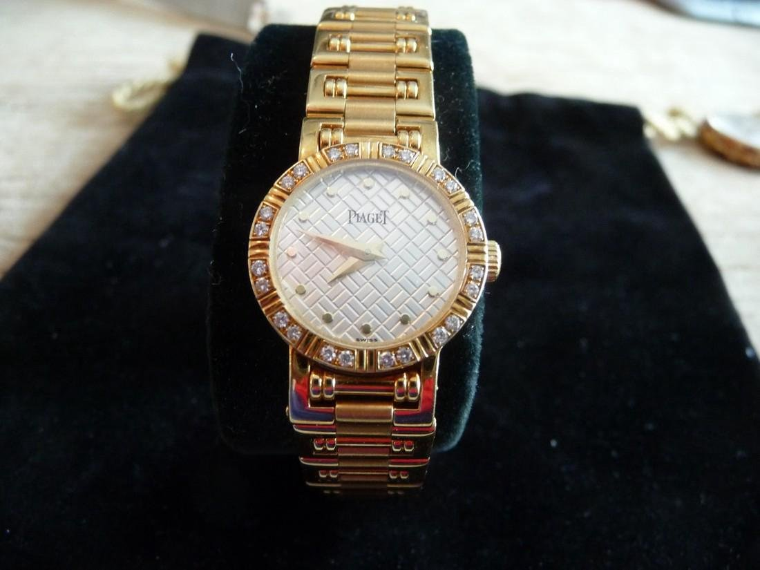 PIAGET DANCER DIAMOND 18K BRACELET WATCH