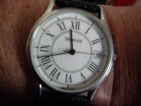 TIFFANY & CO STAINLESS STEEL DATE WATCH