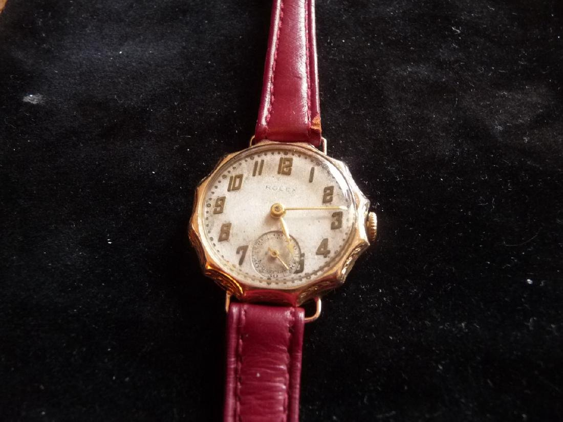 ROLEX ANTIQUE SOLID GOLD WATCH