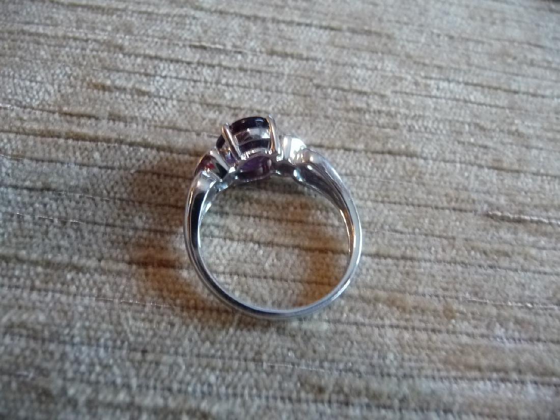 14K DIAMOND AMETHYST RING - 6
