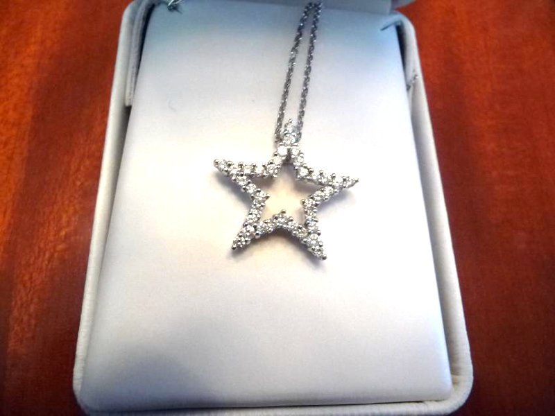 1 CARAT DIAMOND 18K STAR PENDANT NECKLACE - 6