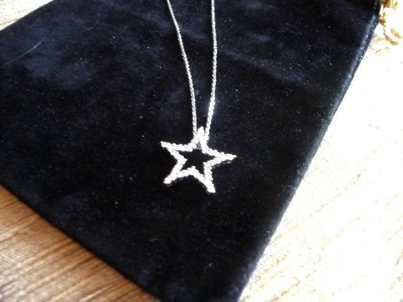 1 CARAT DIAMOND 18K STAR PENDANT NECKLACE - 3
