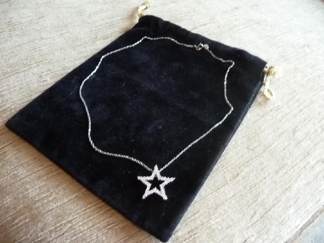 1 CARAT DIAMOND 18K STAR PENDANT NECKLACE - 4