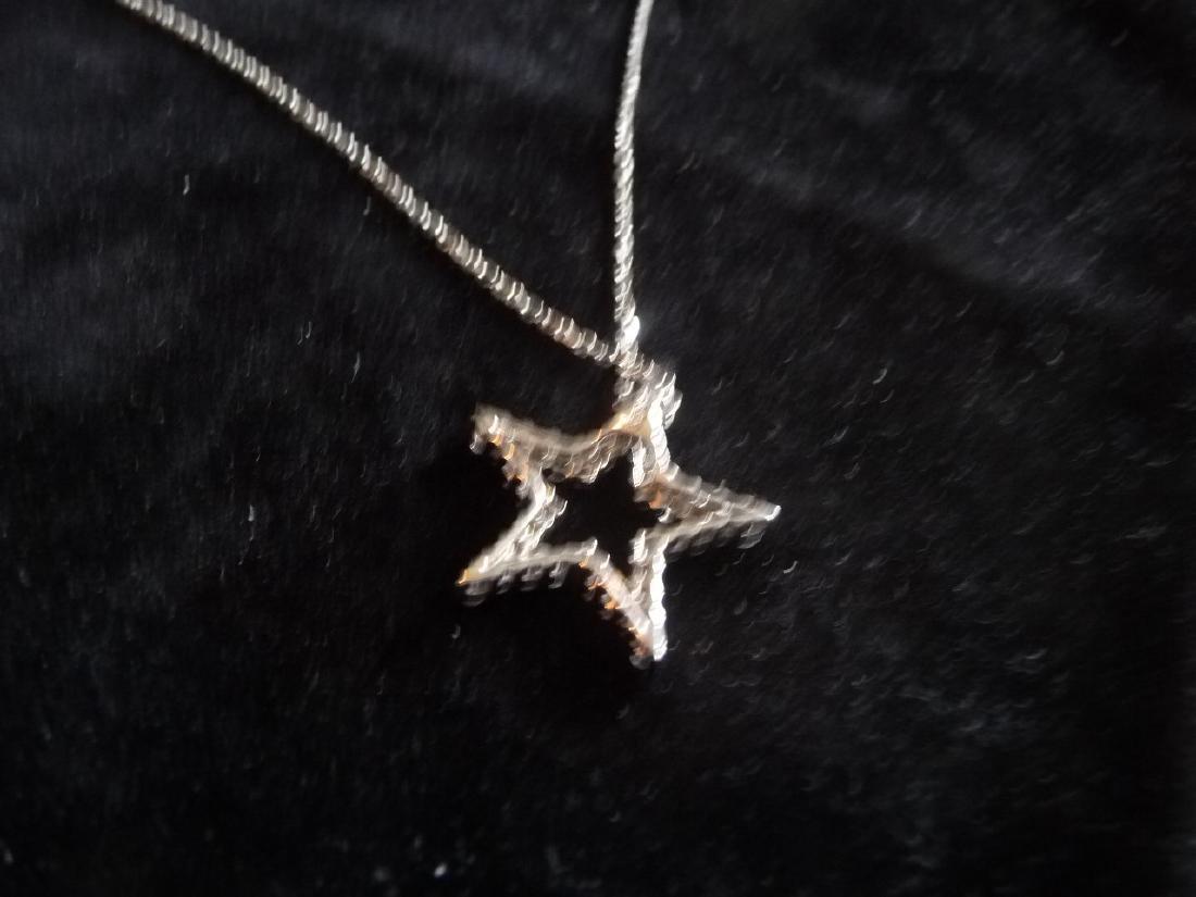 1 CARAT DIAMOND 18K STAR PENDANT NECKLACE - 5