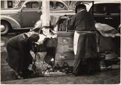SAM MAHL VINTAGE PHOTO \SWEET POTATO CART /1949