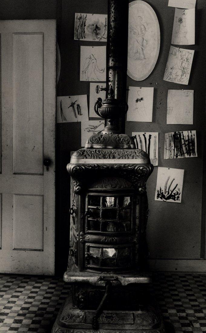 "SAM MAHL VINTAGE   PHOTO "" POT BELLY STOVE"" CIRCA 1960"
