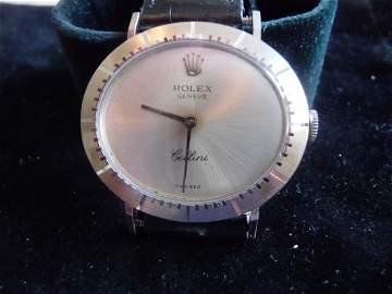 ROLEX CELLINI 18K WATCH WITH PAPERS