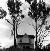 "SAM MAHL VINTAGE   PHOTO ""HOUSE BETWEEN 2 TREES "" 1947"