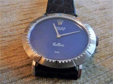 RARE ROLEX CELLINI 18K MANS WATCH W/ PAPERS