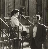 "SAM MAHL VINTAGE  PHOTO \COUPLE IN CONVERSATION "" 1952"