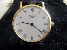 CHOPARD SOLID 18K CLASSIC WATCH W/ BOXES