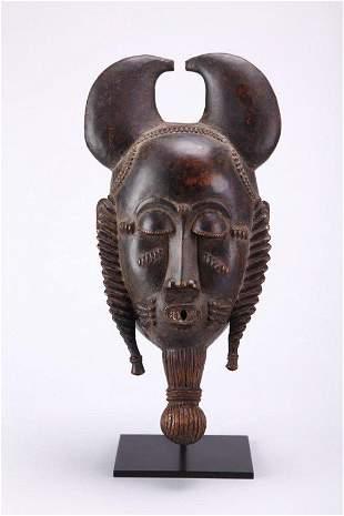ANTIQUE BAULE AFRICAN MASK-IVORY COAST