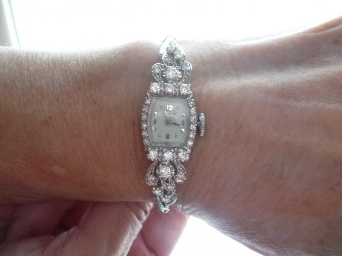 LADIES HAMILTON SOLID 14K WITH 1 CARAT DIAMOND WATCH
