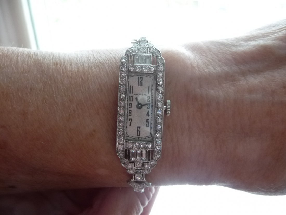 3 CARAT DIAMOND ENCRUSTED PLATINUM WATCH AND BAND