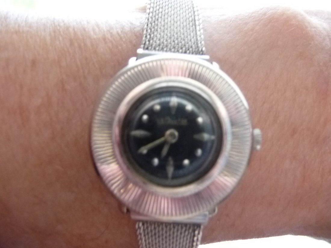 LADIES  LECOULTRE SOLID 14K WHITE GOLD  WATCH