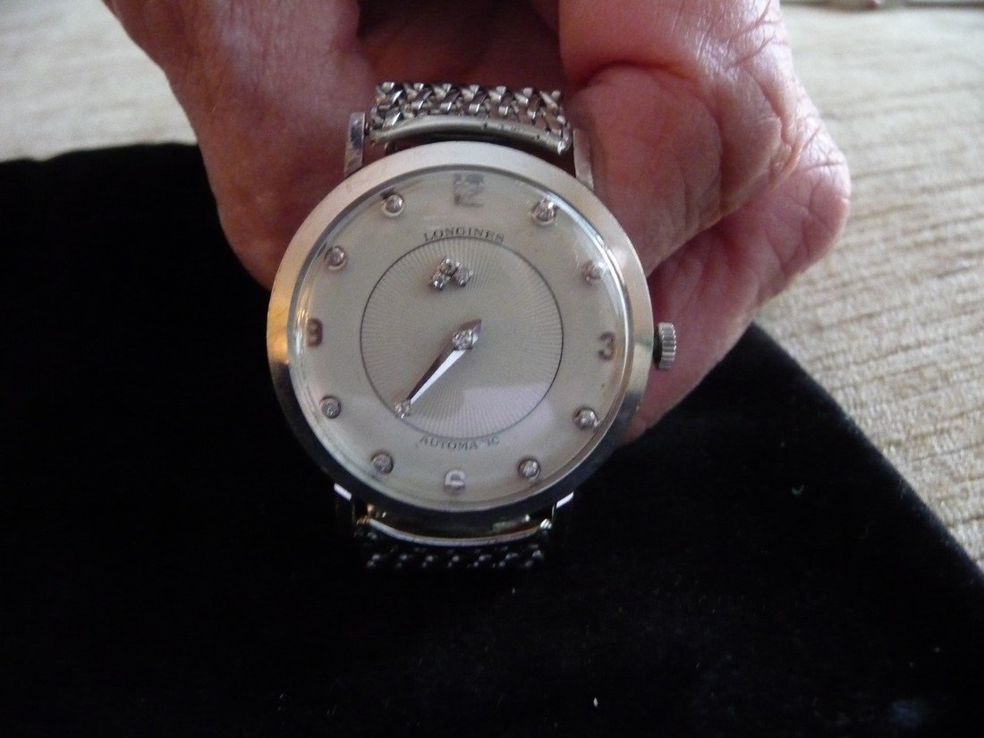 MAN'S LONGINES 14K MYSTERY DIAL DIAMOND WATCH