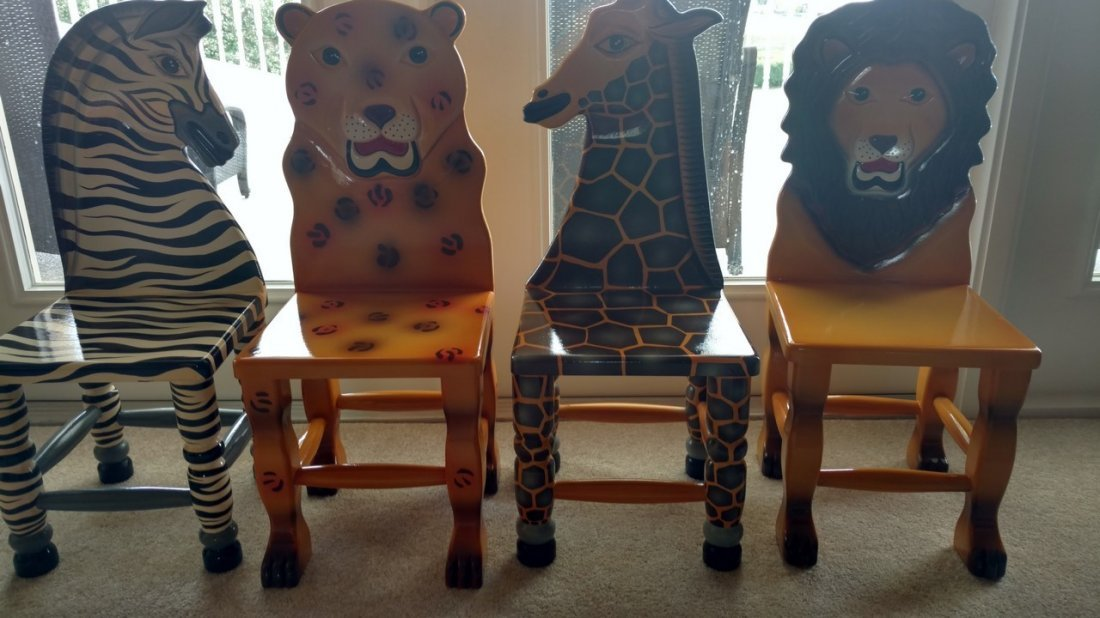 POSH TOTS JUNGLE TABLE & CHAIRS SET-LIMITED EDITION